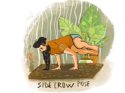Side crow pose