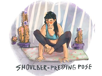 Shoulder pressing pose