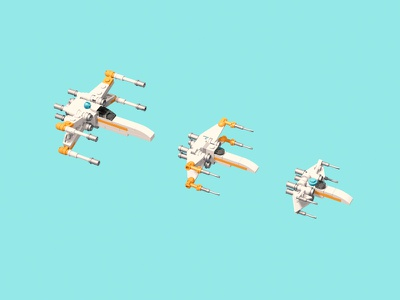 They shrink so fast starwars 3d lego