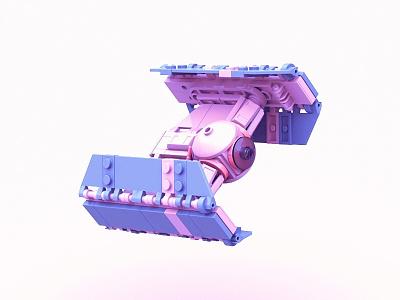 TIE Advanced Gone Fancy illustration vader tie starwars lego 3d