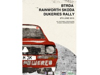 BTRDA dukeries rally poster - personal
