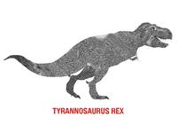 Tyrannosaurus Rex Digital Collage