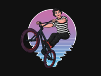 BMX bike t-shirt desing