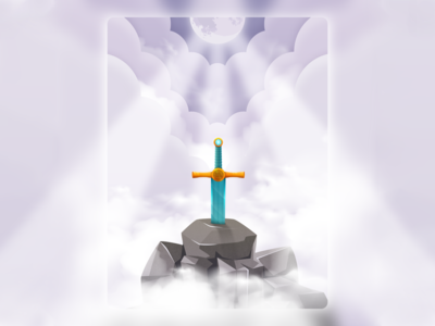 Sword in the Stone illustration. sky clouds stone sword sebmcd adobe illustrator vector illustration illustrator south wales wales cardiff