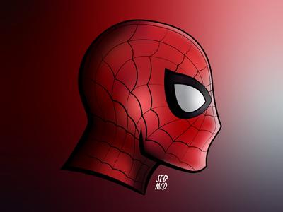 Spider-Man illustration. spiderman disney mcu south wales cardiff wales red adobe illustrator illustration homecoming marvel spider-man
