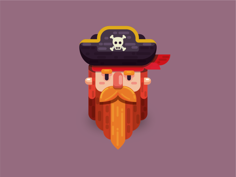 Pirate illustration cardiff south wales wales creative design vector adobe illustrator illustration illustrator adobe redbeard beard pirates pirate