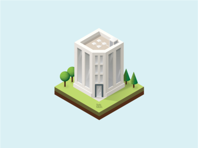 Isometric Building Illustration.