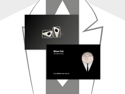 Wilson Fisk (Kingpin) Business Card - dribbble Weekly Warm-up 02 dribbbleweeklywarmup kingpin wilson fisk dribbble illustrator south wales wales cardiff