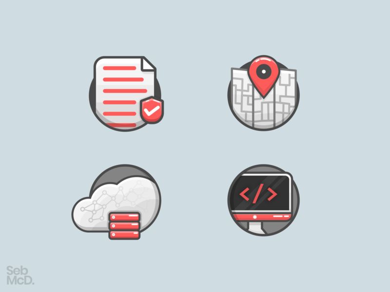 Website Services Icons