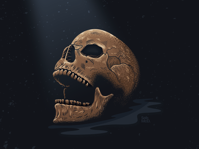 Skull illustration. south wales cardiff wales sebmcd bone death dead skulls skull illustration illustrator