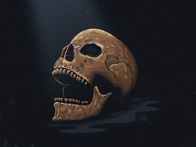 Skull illustration.