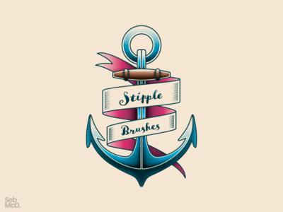 Anchor Illustration with Stipple Shading Brushes