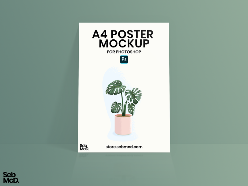 A4 Poster Mockup for Photoshop