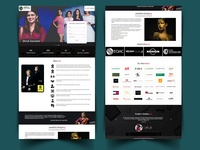 fashion institute landing page design