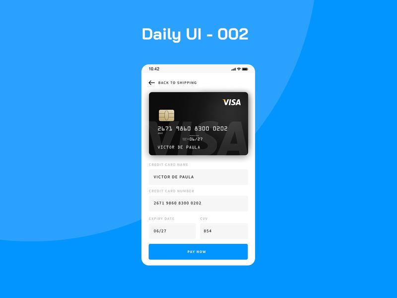 Daily UI - 002 app ui dailyui