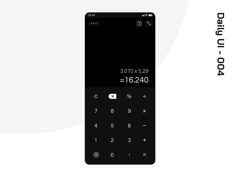 Dayli UI 004 dailyui4 calculator design app ui dailyui