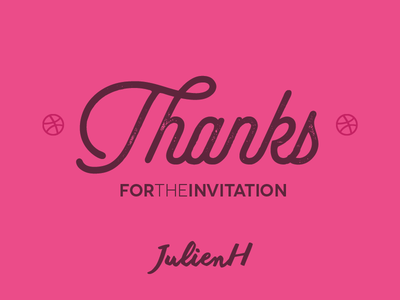Thanks for the invitation JulienH by Hermes Fonseca Dribbble