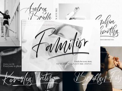 FREEBIES | Familior Signature Font freebies free lettering typogaphy type typedesign type art typeface font awesome signature font elegant fonts font design elegant signature font