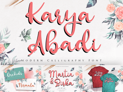 Karya Abadi Modern Calligraphy typography sunflower mask wedding autumn fall halloween christmas