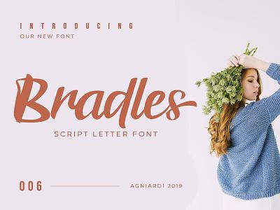 Bradles Font typography badge minimal logo design branding