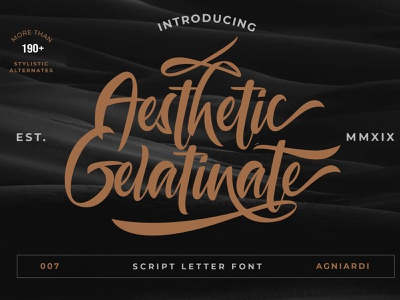 Aesthetic Gelatinante Font typography badge minimal logo illustration design branding