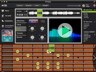 thinkplay Software Screenshot notes dj pedal music guitar piano screenshot software fretboard audio social ui