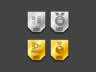 UFC Pick'em Badges pickem ufc mma badges medal bracket globe gradient illustration bebas icon perfect