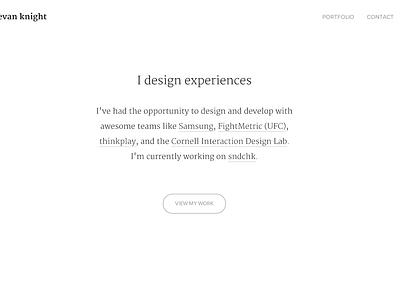 New Portfolio Site minimal white serif portfolio front-end flat samsung mobile