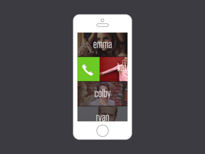 Slide To Call Navigation (Motion Graphic)