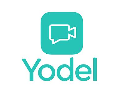 Yodel Logo ios messaging video green typography app icon app logo