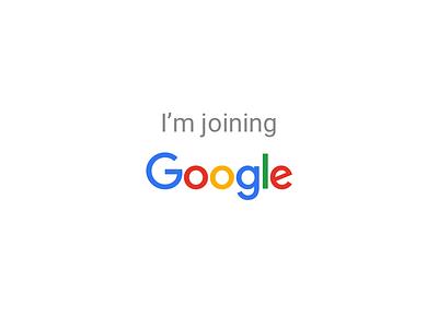 I'm joining Google! colorado boulder interaction design google