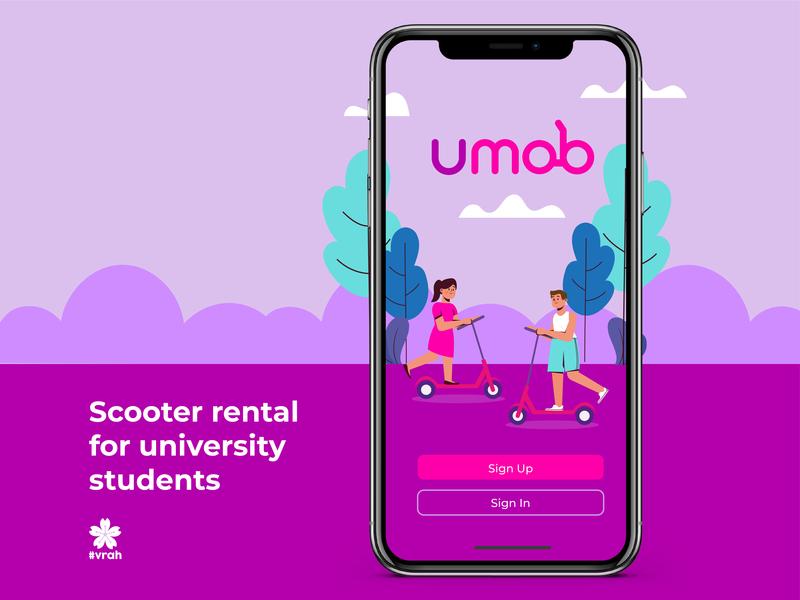 Umob App rental university student app app scooter