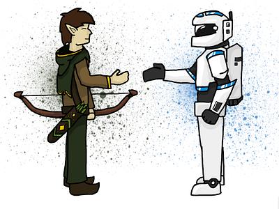Dual Fictions design illustration color art