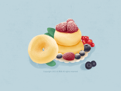 Delicious doughnut... food illustration