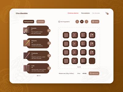 #012 E-Commerce Shop customisation personalization chocolate e-shop shop e-commerce ecommerce 012 ui design dailyui ui  ux