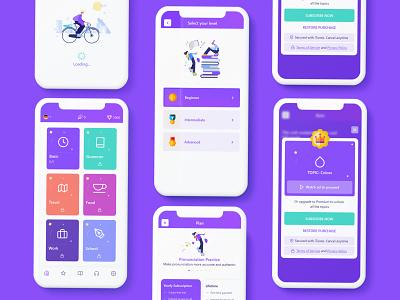 Language Learning app ios app app ui ux language learning educational app learning app simple app app ui