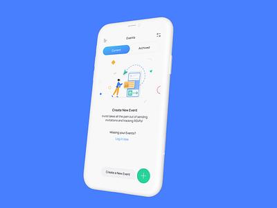 Event Management app ux design ui ui design creative app design minimalist simple app ui