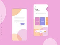 App Ui design (Sign in & Home)