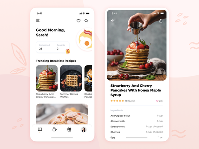 Recipe Sharing Mobile App malaysia kuala lumpur ux  ui food kitchen sketchapp sketch figma figmadesign uxdesign product design baking recipe interfacedesign visual design ui design ux design ux ui app