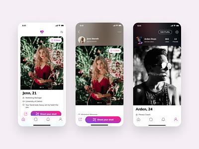 Dating App: Meet people near you interaction design ux design ui design product design malaysia figma design ux ui