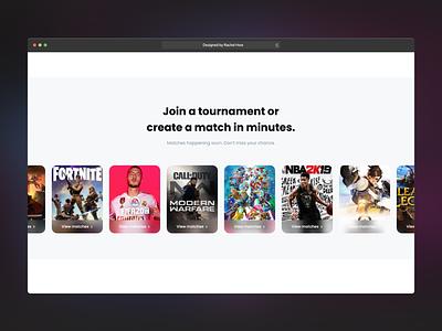 Online Gaming Platform: Earn while playing games you love visual design interaction design product design ux design ui design kuala lumpur malaysia figma design ux ui