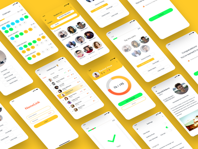 NameLink App Design Concept | UI UX Challenge adobe uidesigner uxdesigner daily ui adobe xd illustrator identity ios mobile website flat app web icon ux vector ui illustration design branding