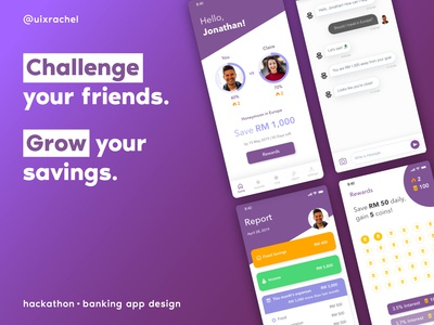 Social Challenge Banking App Concept typography icon uxdesigner uidesigner fintech banking ux identity illustration mobile ios illustrator daily ui ui adobe xd design app