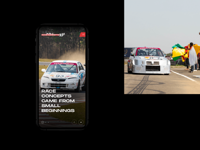 Race Concepts mobile ios minimal photography racecar dark design ui ux website race