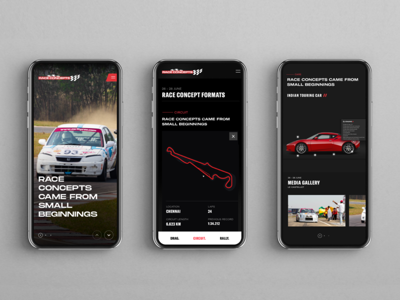 Racetrack website design ios mobile photography website uxdesign uiux uidesign ui racecar race