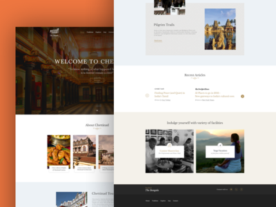 Bangala homepage minimal concept design chettinad website