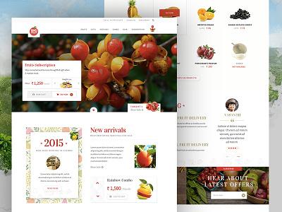 Fruttto - Website ux ui landing page design website