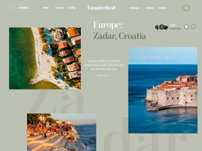Vanderlust - Travel Magazine magazine website ux ui minimal travel grid