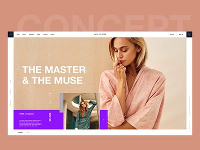 Sass & Bide magazine website ux ui minimal ecommerce grid