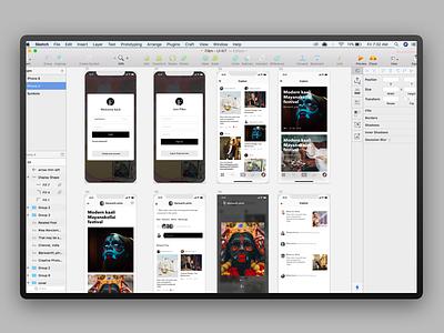 Flam  UI Kit iphone x interface ux ui photography iphone ui kit